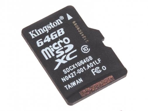 Kingston microSDXC 64GB Class 10 madrobots.ru 2000.000