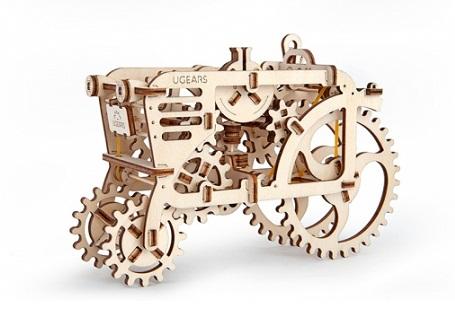 3D-пазл UGears Трактор (Tractor) от Madrobots