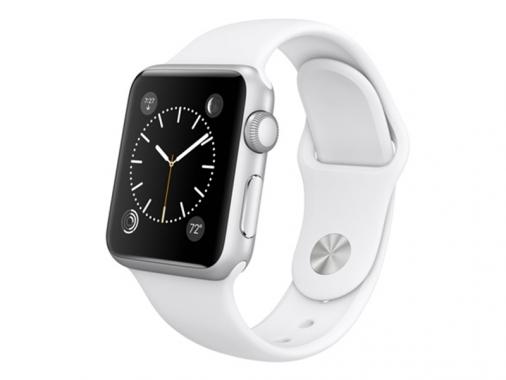 Умные часы Apple Watch Sport 38 мм с белым силиконовым ремешком [MJ2T2] от Madrobots
