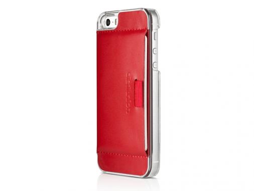 Кожаный чехол-кошелек для iPhone 5/5S Wally Case Red от Madrobots