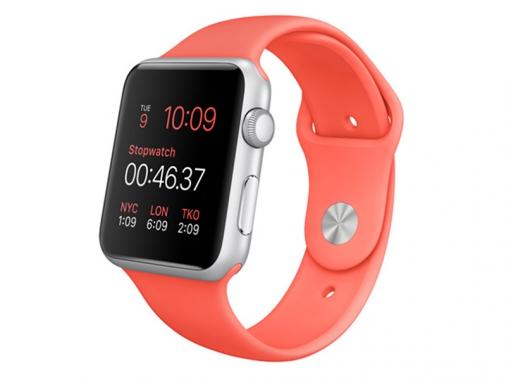 Умные часы Apple Watch Sport 42 мм с розовым силиконовым ремешком [MJ3R2] от Madrobots