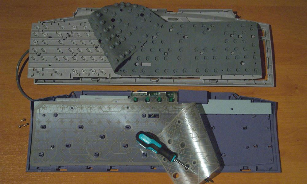 Как из мембранной клавиатуры сделать механическую