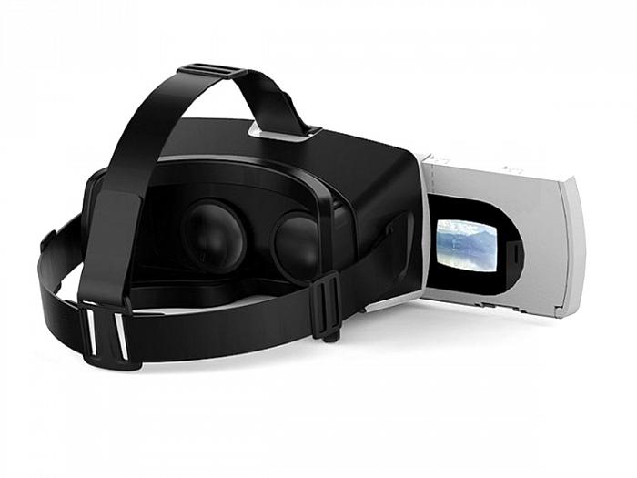 Квадрокоптер с видеокамерой и очками виртуальной реальности ножки от падения желтые к бпла спарк