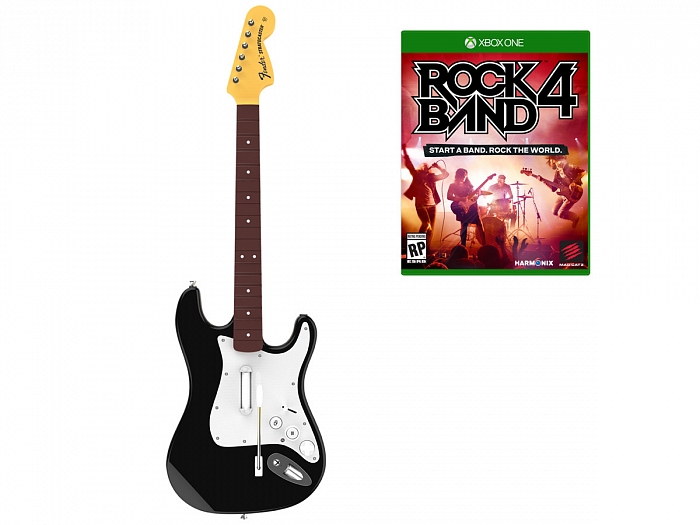 Комплект для Rock Band 4 (игра+гитара) Wireless Fender Stratocaster для XboxOne (RB491168EM02021)