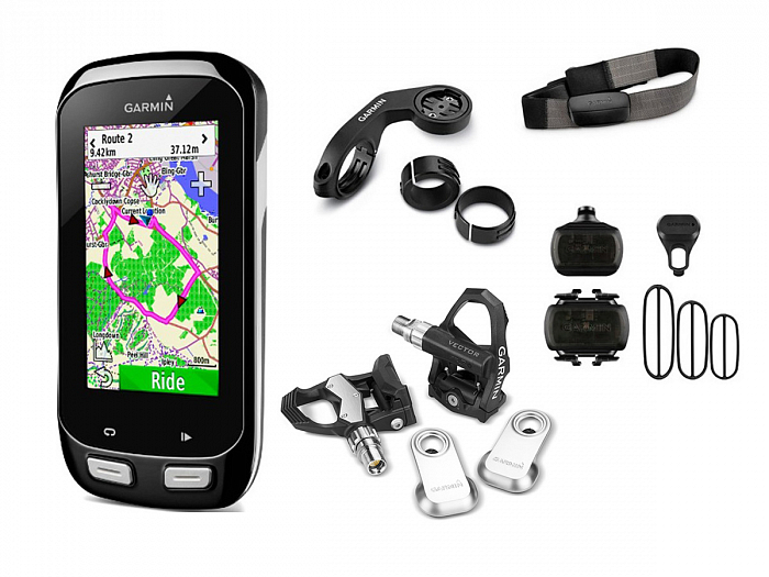 Комплект Garmin Vector + Edge 1000 HRM-3 + CAD