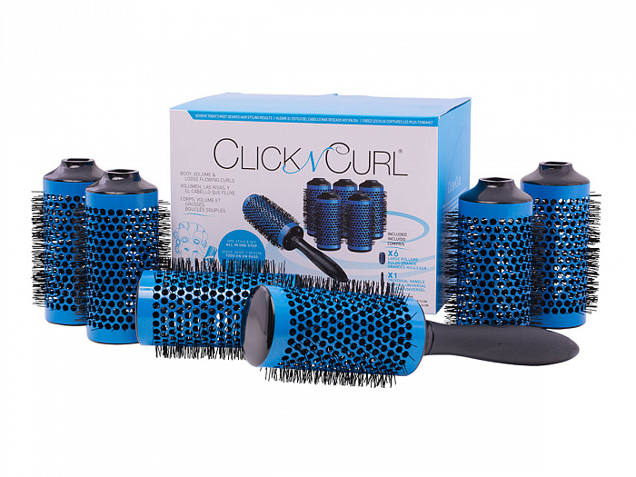 Набор расчесок Click n Curl Round Styling Brush Tool Full Set