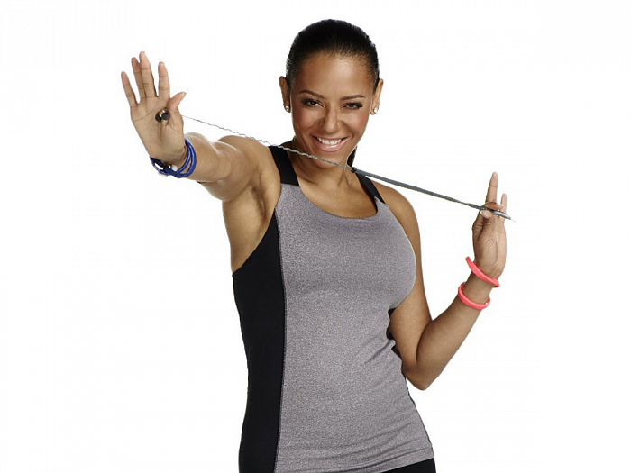 Наушники CordCruncher Tangle-Free Adjustable Bass In-Ear Headphones by Mel B