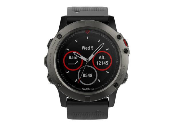 75e3abddd276 Спортивные часы Garmin Fenix 5X Sapphire серые с черным ремешком ...