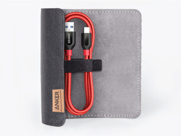 Кабель Anker PowerLine+ USB-C / USB-A 3.0 (0,9 м) с чехлом в комплекте (A8168)