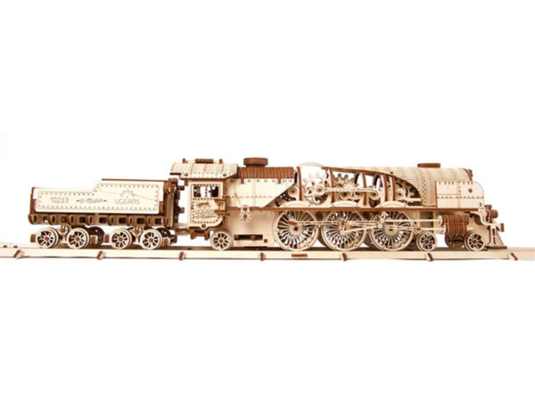 3D-пазл UGears Паровоз V-Экспресс (V-Express Steam Train with Tender)