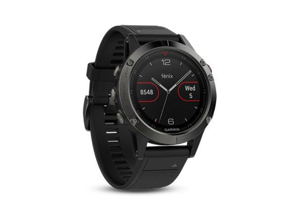 Спортивные часы Garmin fenix 5x Sapphire Slate Gray ремешок - черный
